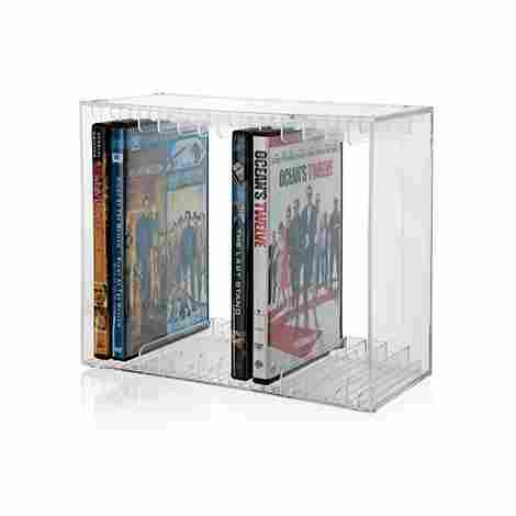 5. Stori Stackable Plastic DVD Rack