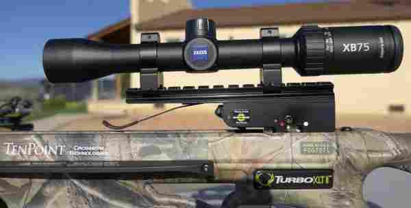 cross bow scope setting up
