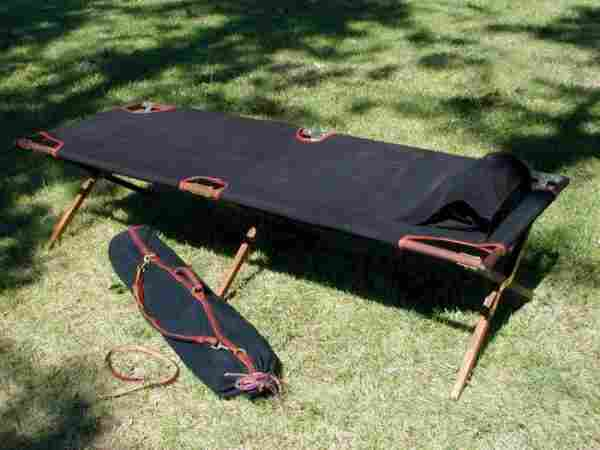 mounting a camping cot